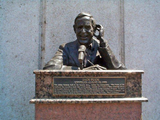Jack Buck Statue - Busch Memorial