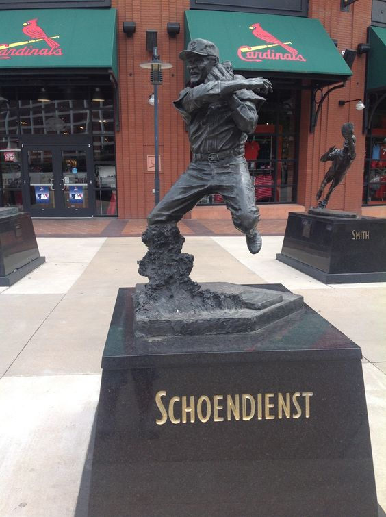 Red Schoendiest Statue