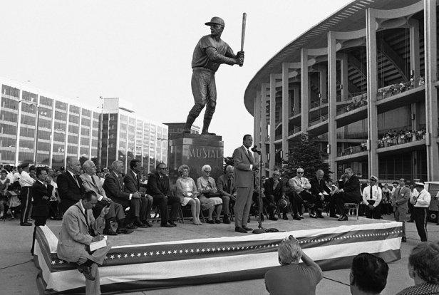 Stan Musial Statue - Busch Stadium II