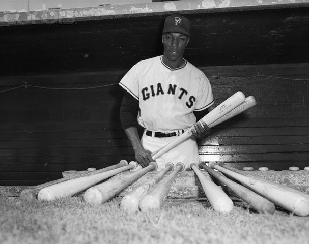 Willie Mccovey W/Baseball Bats