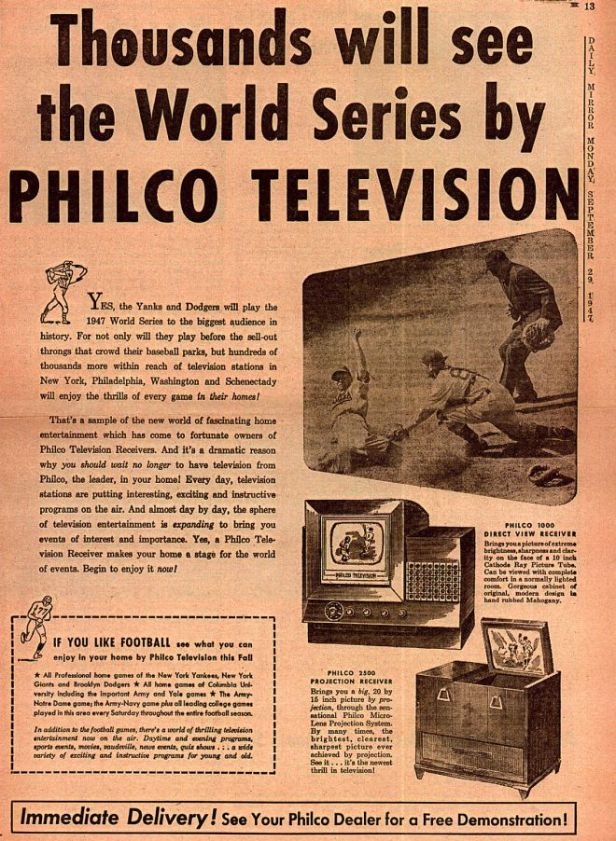 1947 World Series Televised