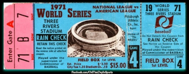 1971 WS Game 4 TV Night Game