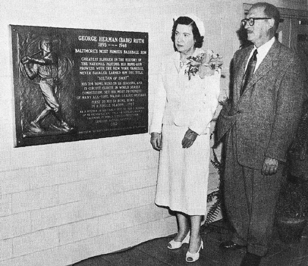 Babe Ruth Memorial Plaque