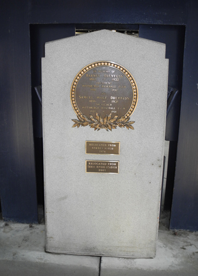 Barney Dreyfuss Plaque