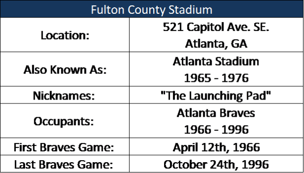 Fulton County Stadium I