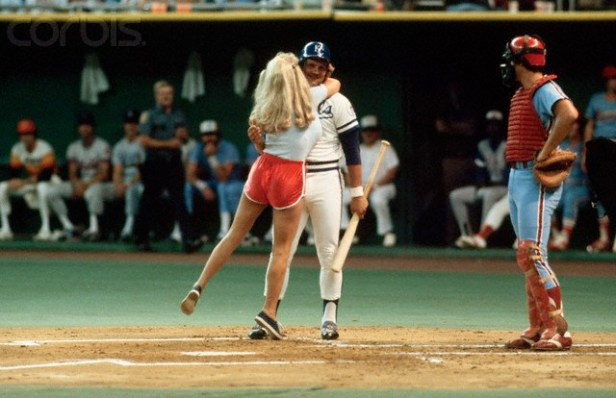 Morganna Hugging George Brett