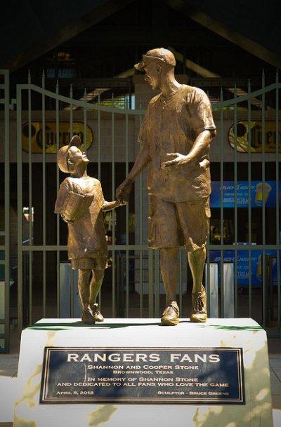 Rangers Fans Statue