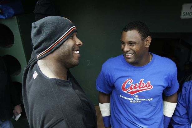 Bonds talks with Sosa