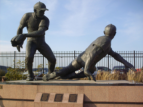 The Play at Second Statue